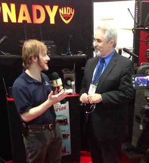 Daniel J. Lewis Interviewing a Nady Rep.