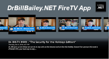 Dr. Bill Bailey.NET FireTV App