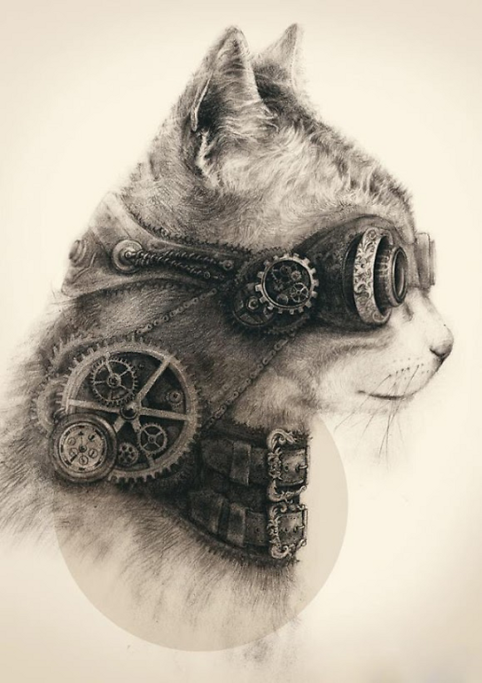 Steampunk Cat!
