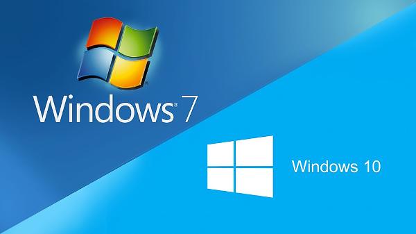 Windows 7 - Windows 10