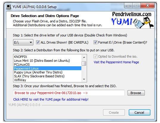 PenDriveLinux's YUMI