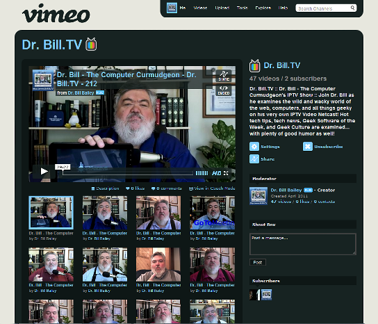 DrBill.TV Channel on Vimeo