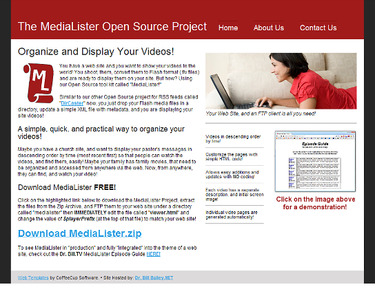 The MediaLister Open Source Project
