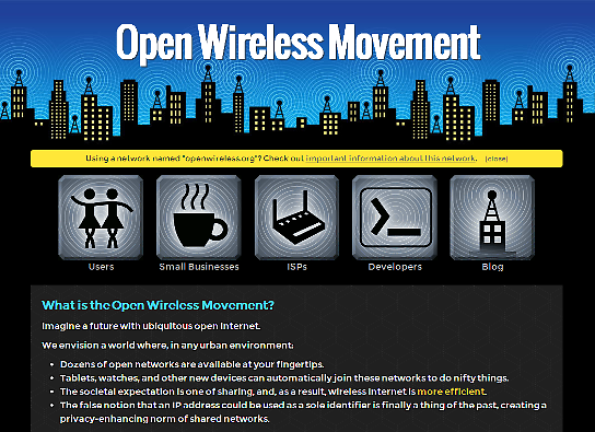 Open Wireless Movement